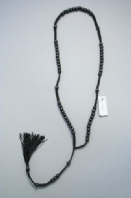 Black tassel rosary necklace (Code 3164)